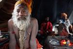 Shiva Raj Giri in his tent at the KumbhMela