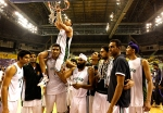 The celebration begins for the Punjab team after winning the 62nd National Basketball Championship in Chennai, India